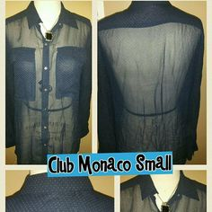 Club Monaco Blue & White Blouse Club Monaco Tops Blouses