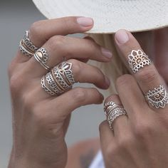 Tattoo Silver Rings, Jewels, Lovely Things, Jewellery, Decoration, Tatoo, Rings, Schmuck, Decor