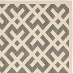 @Overstock - This outdoor rug has a brown background and displays stunning panel color of natural. This power-loomed rug is resistant to mold, mildew, sun, water and other elements.http://www.overstock.com/Home-Garden/Poolside-Grey-Bone-Indoor-Outdoor-Rug-8-x-112/6551514/product.html?CID=214117 $218.99