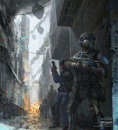Riot control team
