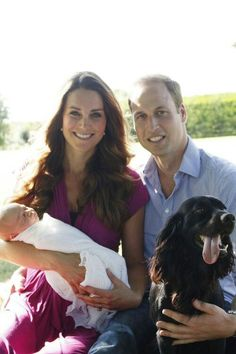 Royal family photo with the family dog