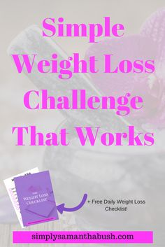 Start this simple weight loss challenge that actually gives you results!  As a bonus earn cash after successfully completing your challenge!