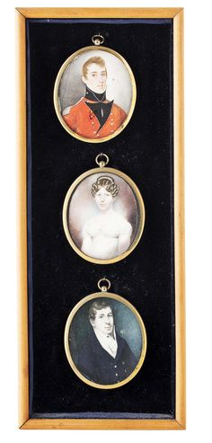 THREE REGENCY PORTRAIT MINIATURES EARLY 19TH CENTURY Auction, Portraiture, Miniatures, Miniature Portraits, Art, 19th Century, Portrait, Portrait Art