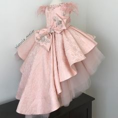 No automatic alt text available - Salvabrani Little Girl Gowns, Gowns For Girls, Frocks For Girls, Little Girl Dresses, Girls Dresses, African Dresses For Kids, Kids Dress Patterns, Kids Gown, Kids Frocks Design
