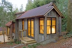 714 square foot built with reclaimed barnwood.