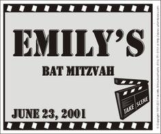 Personalized Bat Mitzvah Favors -