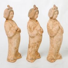 Small Terracotta Chinese Ladies.  Visit our online showroom for this and other items.