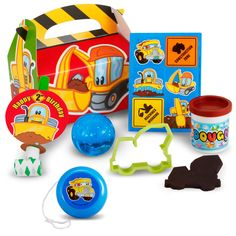 Construction Pals 2nd Birthday Party Favor Box