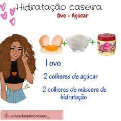 || HIDRATAÇÃO CASEIRA || 🌴Ovo+açúcar . . . 🌴Benefícios: ↪Brilho ↪Maciez ↪Reduz o frizz ↪Crescimento ↪O ovo fortalece a raiz ↪Reduz as…
