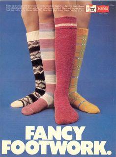 Hanes Fancy Footwork Socks Advertisement 1977 Magazine - Print Ad