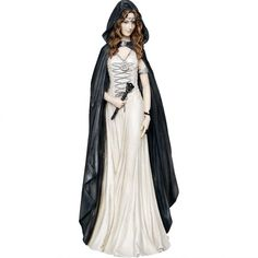 Enchantress is a stunning witch figurine by Nemesis Now. She looks lovely in her long white gown, black hooded cloak and head necklace. She holds a wand in her hand. Made of high quality resin with a beautiful hand painted finish. Approx. 25.3cm. Product Number: D0648B4