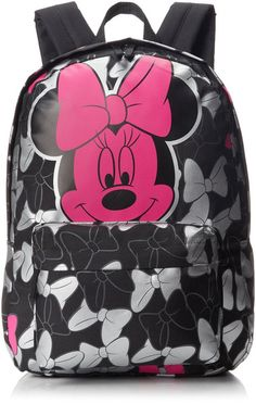 Hot Pink Minnie Mouse Bow Cluster Backpack by Loungefly