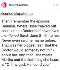 No one (other than Donna) could ever forget Rose! (yeah I went there before someone else did!)