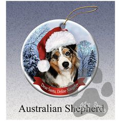 Australian Shepherd Howliday Dog Christmas Ornament