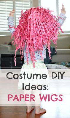 DIY Paper Wig, Halloween Costumes