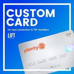 Plenty 4/7 | LIFT Creations LIFT created VIP Member cards as a sleek, simple solution for fundraising organizations to sell subscriptions to Plenty 4/7. This allowed a tangible, credible transaction between the fundraiser and the customer.  http://www.liftcreations.com/portfolio/plenty-47/