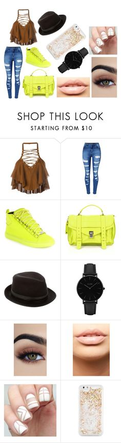 """Untitled #29"" by shelby-cat13 on Polyvore featuring Balmain, WithChic, Balenciaga, Proenza Schouler, Hermès, CLUSE, MDMflow and ban.do"
