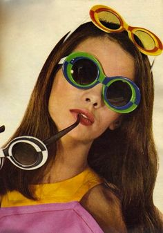 1960's Sun Glasses. I have most definitely worn several pairs at once like this.