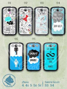The Fault in Our Stars samsung case, Samsung Galaxy S3 S4 Case, John Green, Samsung S3 S4 Hard Case Soft Case Clean Case on Etsy, $7.93 AUD
