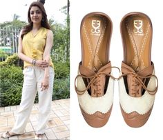 Kajal Aggarwal chose the perfect pair of Broguesters by Fizzygoblet with that outfit.  #getthelook #celebritycloset #celebstyle #bollywood #kajalaggarwal #fizzygoblet #broguesters #laceshoes #accessories #fashionaccessories #footwear #shopnow #perniaspopupshop #ppus #happyshopping