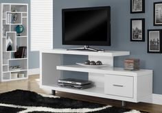 Looking for White Tv Console Modern Contemporary Laminate MDF Drawers ? Check out our picks for the White Tv Console Modern Contemporary Laminate MDF Drawers from the popular stores - all in one. Simple Tv Stand, 60 Tv Stand, Tv Stand Console, Wall Tv Stand, Tv Stand Cabinet, Console Tables, Wall Mount Entertainment Center, Entertainment Stand, Entertainment Furniture