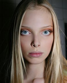 Human dolls making dolls human It looks like a symmetrical resemblance game. Both pale, both blonde, both graduated at Ural State Academy of Architecture and Arts. Elie Saab, Tanya Dziahileva, Face L, Human Doll, Model Face, Fashion Models, Culture, Eyes, Hair Styles