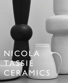 NICOLA TASSIE CERAMICS Using a painter's sensibility in her choice of ash and tin based glazes, reminiscent of the St Ives art movement circa 1950, Nicola Tassie has produced a range of hand thrown stoneware ceramic jugs, bowls and lamp bases exclusive to our shops.