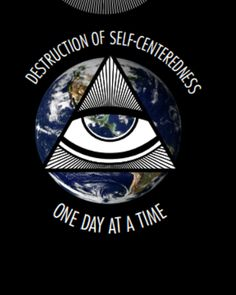 Men's Black Tee,  One Day At A Time for the sober warriors in recovery.  Sobriety worldwide in your Doing It Sober t-shirt - Destruction of Self-centered Ness.