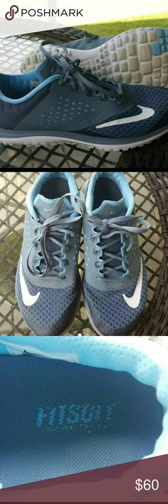 Nike FS Lite Run 2 Running shoe with fitsole  Blue graphite, white and lakeside is the color. Women's size 8. Worn 4 times  Very good condition. Originally paid? $82 Nike Shoes Athletic Shoes