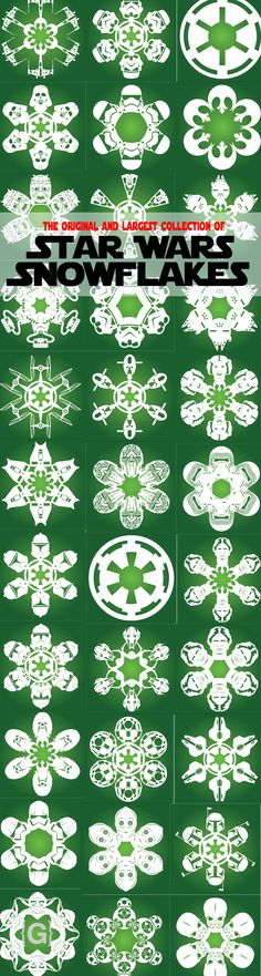 DIY Star Wars Snowflake Designs. Download and cut your own today!