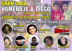 Hola amig@. Os esperamos este sábado día 15 de octubre a las 20:00h. En el Centro Cívico José María Luelmo (Parque Alameda) Valladolid. Donde contaremos con las actuaciones de varios artistas de la…
