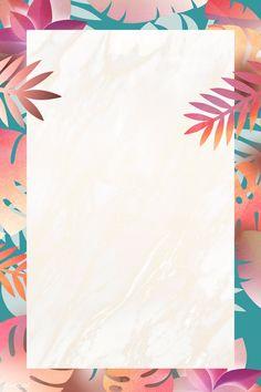 Blank leafy rectangle frame design | premium image by rawpixel.com / Adj Framed Wallpaper, Flower Background Wallpaper, Cute Wallpaper Backgrounds, Flower Backgrounds, Iphone Wallpaper, Wallpapers, Powerpoint Background Design, Poster Background Design, Background Patterns
