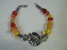 Sunrise Bracelet by BackyardBeader on Etsy, $15.00