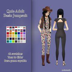 Sims 4 CC Maxis Match Jumpsuit