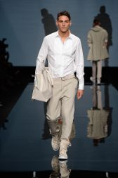 The Ermanno Scervino collection focused on the looks of a dapper gentleman, for whom style and functionality are essential features of a clothing piece.  See the 25 best menswear looks at Milan  Week Spring Summer 2015:  http://attireclub.org/2014/06/30/milan-fashion-week-spring-summer-2015/  #fashion #style #menswear #MIFW #elegance runway #runwayphotos #milan #fashionweek
