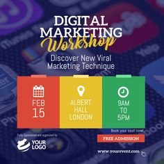 Design created with PosterMyWall Business Flyers, Business Flyer Templates, Business Branding, Business Marketing, Viral Marketing, Digital Marketing, Instagram Post Template, Marketing Training, Marketing Techniques