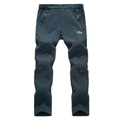 Modern Fantasy Mens Waterproof UV Elastic Fleece Outdoor Climbing Pants Blue Size US XL ** Want additional info? Click on the image.