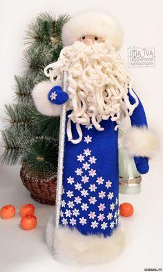 Поделка Дед мороз, чехол на шампанское, своими руками - Новый год - Подарки к праздникам - Каталог статей - Рукодел.TV
