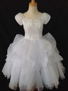 Christie Helene Communion Dress - P1302 Signature Collection - New 2015 - Ballerina Length Communion dresses - First Communion Dress - Girls