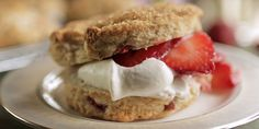 Strawberry and Rhubarb Shortcakes