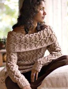 Free cable knitting ebook  Could someone PLEASE make me this sweater?