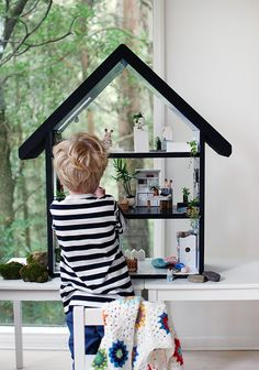 Scandi summer house style doll house makeover, via WeeBirdy.com.