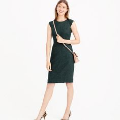 J.Crew - Cap-sleeve dress in Donegal wool