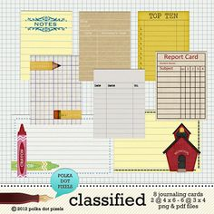 classified - the journaling tags by Polka Dot Pixels - Two Peas in a Bucket