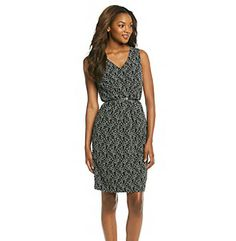 Get romantic style with this lace shift dress from Calvin Klein. Featuring a V-neckline