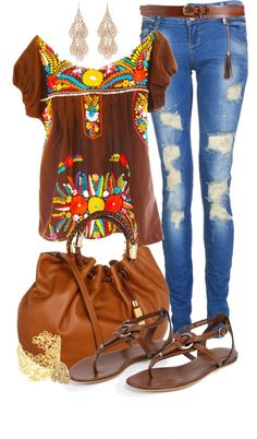 """""""Fiesta Casual"""" by angela-windsor on Polyvore"""