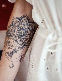 make-up mandala floral roses tattoo