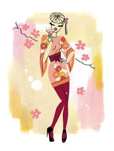 Neryl Walker - Aiko's flower from  The Fashionable Cocktail Book