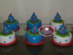 Cup cake galinha pintadinha