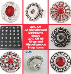 Interchangeable jewelry! Buy a piece of base jewelry, change snaps to get different looks. 1000's of snaps and snap jewelry to select from at amazing prices!